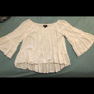TopShop off the shoulder white blouse size 0